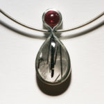 Anhänger: Silber, Turmalinquarz, rosa Turmalin --- ohne Halsreif: 262,- €