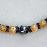 Kette: Silber, schwarz rhodiniert, Zitrine, Länge 46 cm --- 610,- €