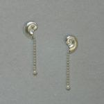 """Ohrhänger """"Schnecken"""": Silber, Akoya-Perlen --- Paar: 134,- €"""