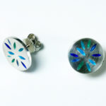 Ohrstecker: Silber, Emaille --- Paar: 80,- €