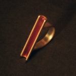Ring: Gold, Emaille, Weite ca. 52 --- 858,- €